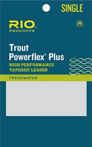 9' Leader - 3 Pack - Trout Powerflex Plus - Rio Products