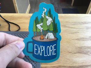 Sticker Art - Explore Coffee Mug