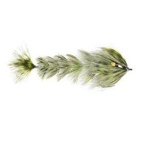 Olive/White - Feather Game Changer - Fly Men Fishing Company