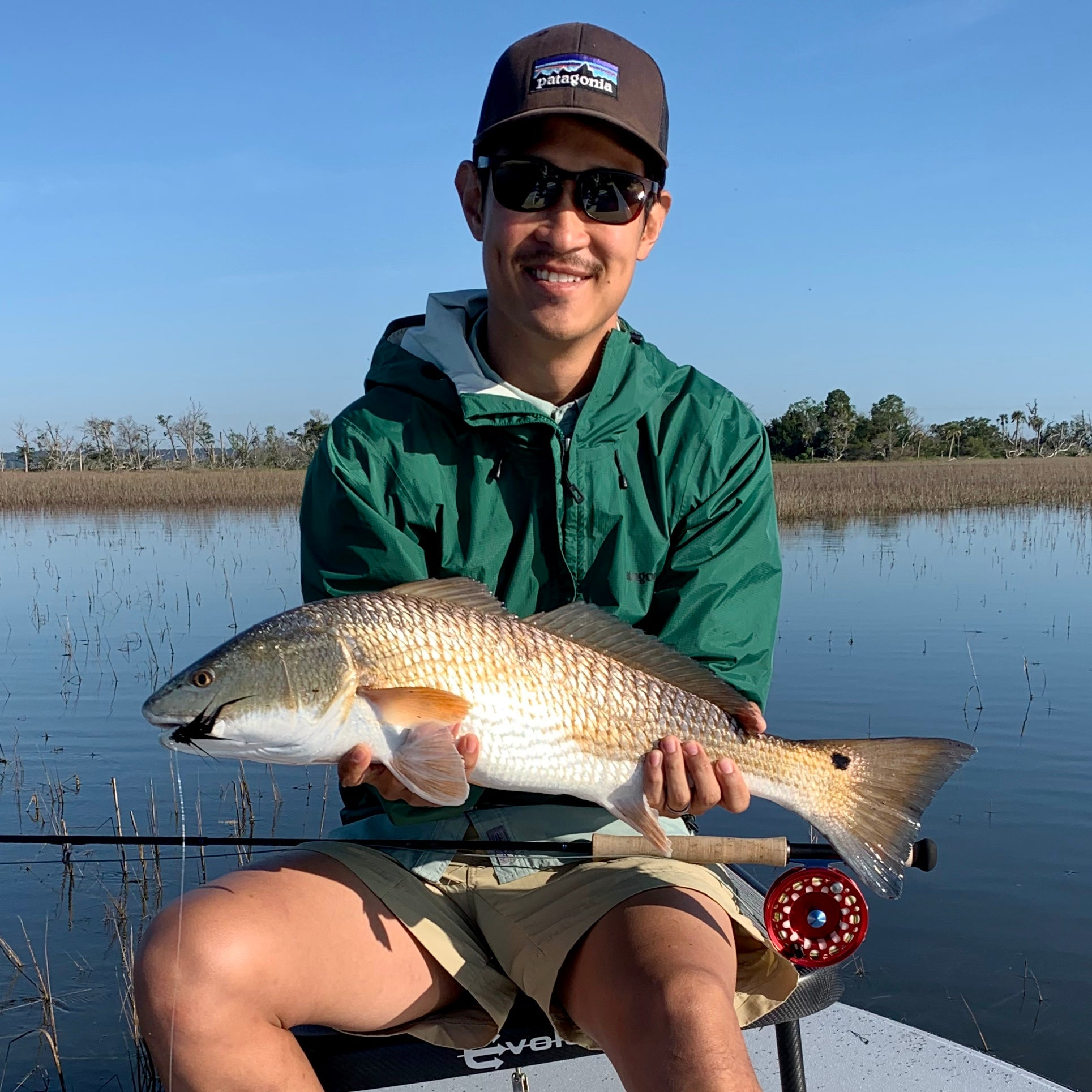 Tailing Redfish On The Fly!