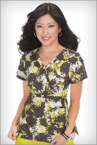 Koi Print Scrub Tops Plus Sizes Splash Animal
