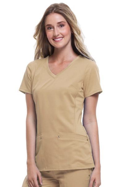 Healing Hands Plus Size Scrub Top Purple Label Juliet in Khaki at Parker's Clothing and Shoes