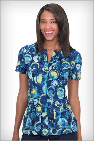 Koi Scrubs Naomi Sea Glass Print Tops - Parker's Clothing & Gifts