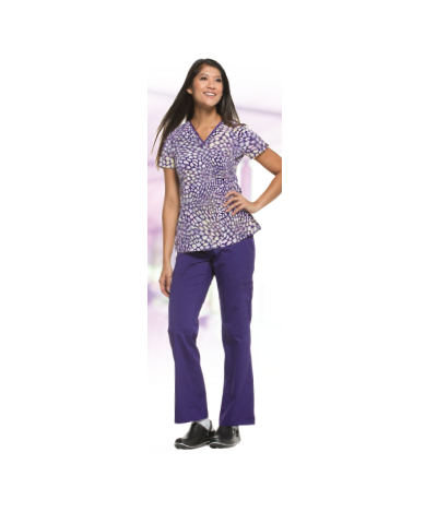 Healing Hands Scrubs Purple Label Amanda Print Top Whimsical Splash - Parker's Clothing & Gifts
