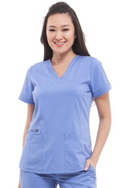 Healing Hands Plus Size  Scrub Top Purple Label Jasmin in Ceil at Parker's Clothing and Shoes
