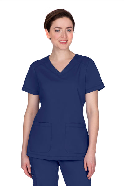 Healing Hands Plus Size Scrub Top Purple Label Jill in Navy at Parker's Clothing and Shoes.