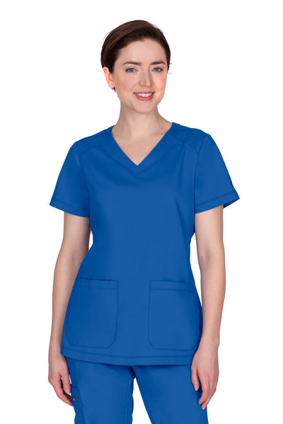 Healing Hands Plus Size Scrub Top Purple Label Jill in Royal at Parker's Clothing and Shoes.