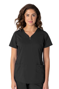 Healing Hands Purple Label Jeni Scrub Top Black - Parker's Clothing and Shoes