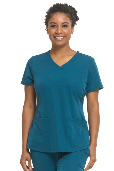 Plus Size Healing Hands HH Works Monica V-Neck Scrub Top Caribbean - Parker's Clothing and Shoes