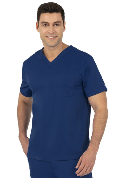 Healing Hands HH Works Mason Mens Scrub Top Navy - Parker's Clothing and Shoes
