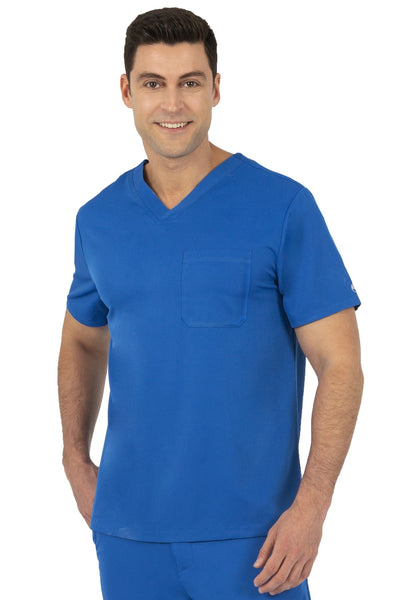 Healing Hands HH Works Mason Mens Scrub Top Royal - Parker's Clothing and Shoes