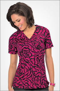 Koi Joelle Zebra Rose Print Top - Parker's Clothing & Gifts
