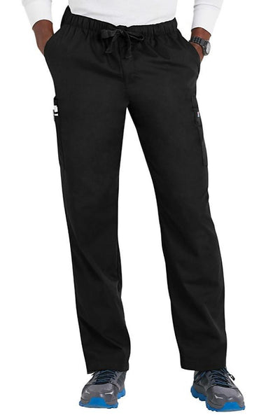 Cherokee Mens Scrub Pants Workwear Originals in Black at Parker's Clothing and Shoes