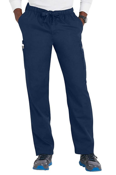 Cherokee Mens Scrub Pants Workwear Originals in Navy at Parker's Clothing and Shoes