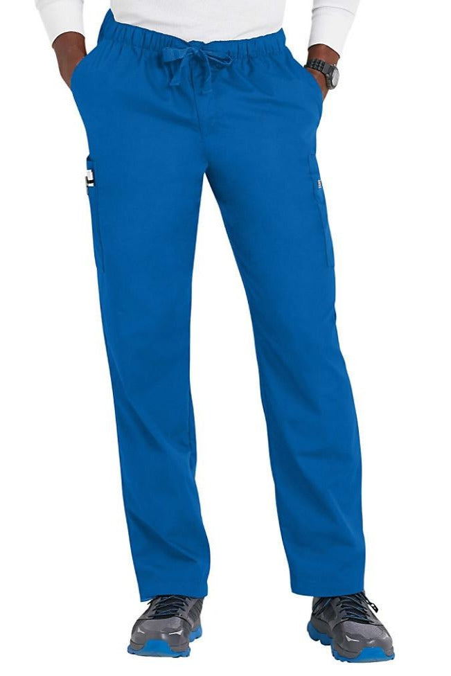 Cherokee Mens Scrub Pants Workwear Originals in Royal at Parker's Clothing and Shoes