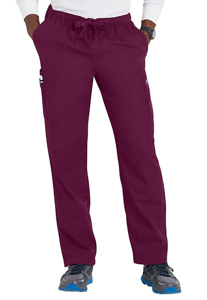Cherokee Mens Scrub Pants Workwear Originals in Wine at Parker's Clothing and Shoes