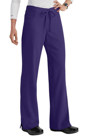 Greys Anatomy Pant 5 Pocket Drawstring Scrub Purple Rain 4232 - Parker's Clothing & Gifts
