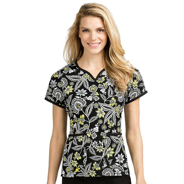 Med Couture Print Scrub Tops Natasha Everything's Aglow Print Tops - Parker's Clothing & Gifts