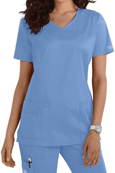 Cherokee Scrub Top Core Stretch V Neck 4727 Ciel At Parker's Clothing and Shoes