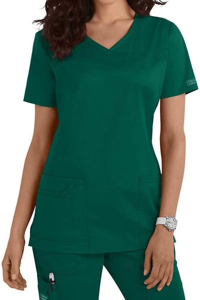Cherokee Scrub Top Core Stretch V Neck 4727 Hunter At Parker's Clothing and Shoes