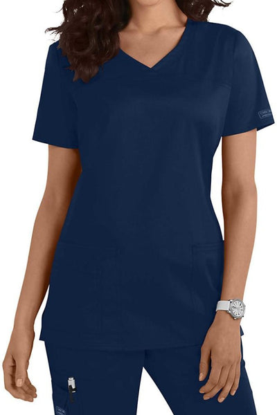 Cherokee Core Stretch Top V Neck 4727 Navy At Parker's Clothing & Shoes