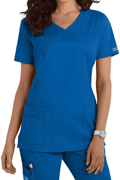 Cherokee Scrub Top Core Stretch V Neck 4727 Royal At Parker's Clothing and Shoes