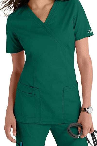 Cherokee Scrub Top Core Stretch Mock Wrap 4728 Hunter At Parker's Clothing & Shoes