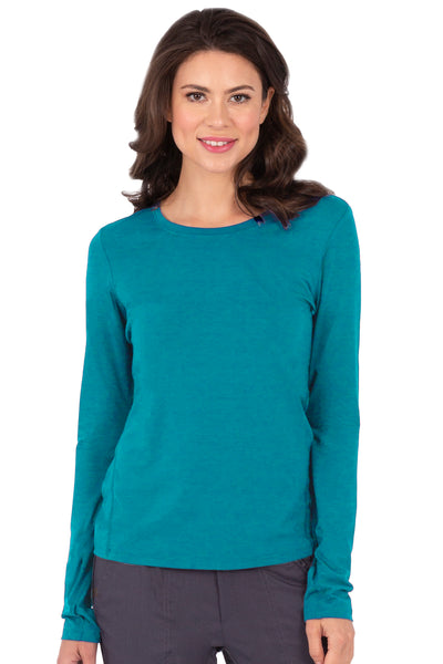 Healing Hands Purple Label Mackenzie Long Sleeve Tee Teal - Parker's Clothing and Shoes
