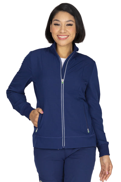 Healing Hands HH360 Carly Scrub Jacket 5067 Navy Athletic Fit - Parker's Clothing and Shoes