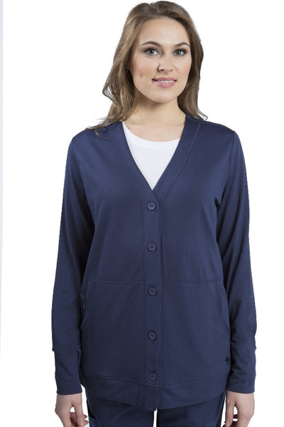 Healing Hands Becca Scrub Jacket Navy - Parker's Clothing and Shoes