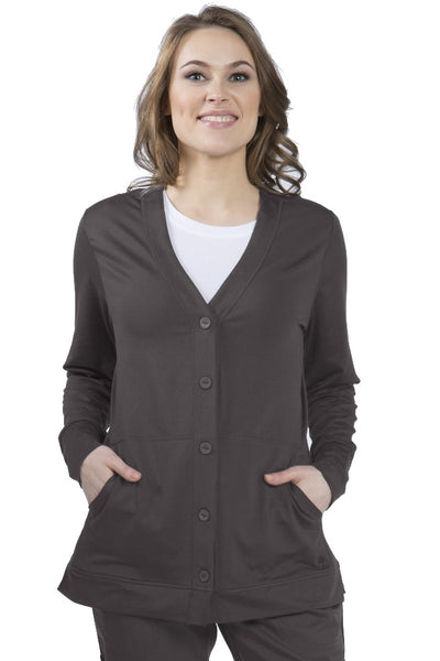 Healing Hands Becca Scrub Jacket Pewter - Parker's Clothing and Shoes