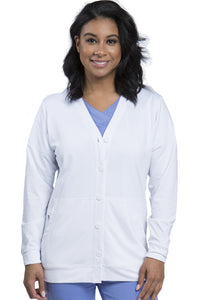 Healing Hands Becca Scrub Jacket White - Parker's Clothing and Shoes
