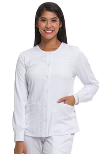 Healing Hands HH Works Megan Scrub Jacket in White at Parker's Clothing and Shoes.