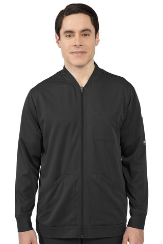 Healing Hands HH Works Michael Mens Scrub Jacket in Black at Parker's Clothing and Shoes.