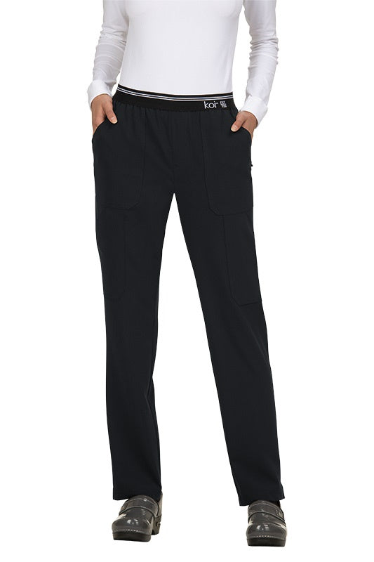 Koi Tall Scrub Pants Next Gen On The Run in Black at Parker's Clothing and Shoes.