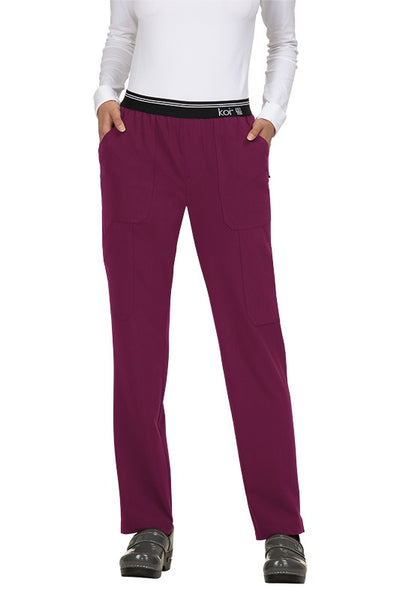 Koi Tall Scrub Pants Next Gen On The Run in Wine at Parker's Clothing and Shoes.