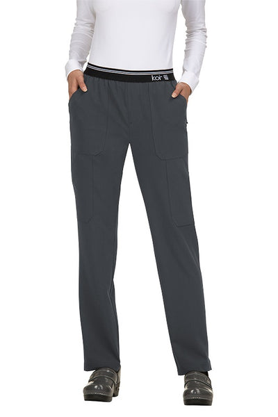 Koi Tall Scrub Pants Next Gen On The Run in Charcoal at Parker's Clothing and Shoes.