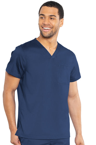 Med Couture Mens Scrub Top RothWear Cadence in Navy at Parker's Clothing and Shoes.