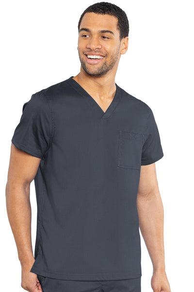 Med Couture Mens Scrub Top RothWear Cadence in Pewter at Parker's Clothing and Shoes.