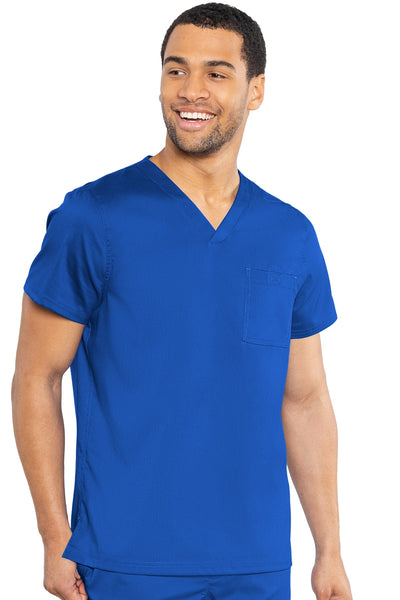 Med Couture Mens Scrub Top RothWear Cadence in Royal at Parker's Clothing and Shoes.
