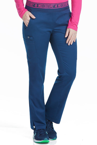 Med Couture Scrub Pants Touch Ally Yoga Pant Navy - Parker's Clothing and Shoes