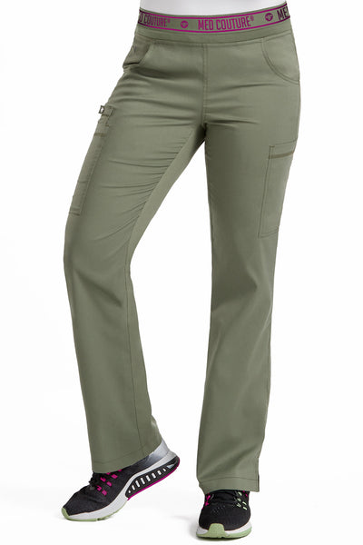 Med Couture Scrub Pants Touch Ally Yoga Pant Olive - Parker's Clothing and Shoes