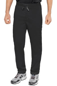 Med Couture Mens Scrub Pants RothWear Hutton Straight Leg in Black at Parker's Clothing and Shoes.