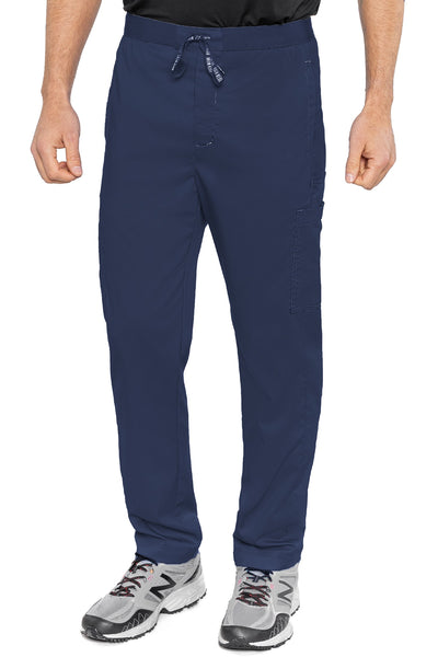 Med Couture Mens Scrub Pants RothWear Hutton Straight Leg in Navy at Parker's Clothing and Shoes.