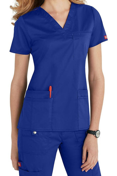 Dickies Scrub Top Gen Flex V Neck 817455 in Royal at Parker's Clothing and Shoes