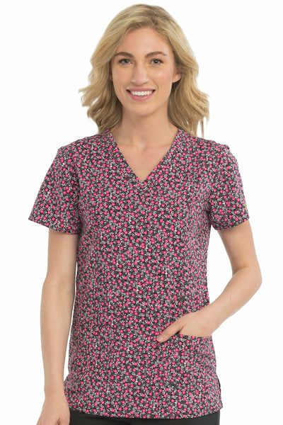 Med Couture Scrub Top Print Plus Sizes Cosmic Pop