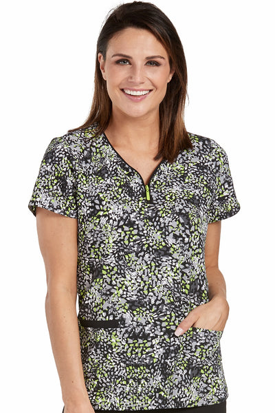 Med Couture Scrub Top Print Plus Sizes Mosaic Pieces