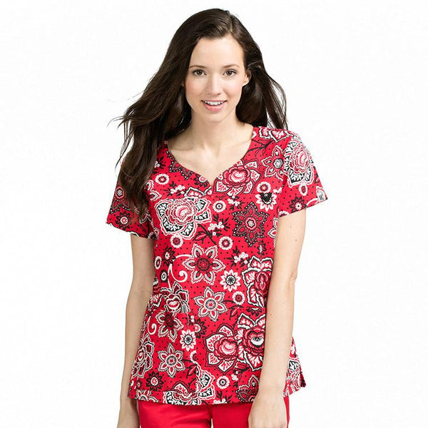 Med Couture Lexi Budding Romance Print Tops - Parker's Clothing & Gifts