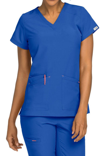 Med Couture Scrub Top Air Sky High in Royal at Parker's Clothing and Shoes
