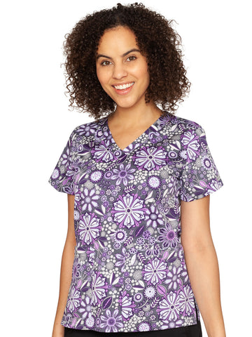 Med Couture Vicky Print Tops Assorted Petals